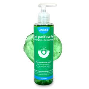 Gel purificante para pieles con acné